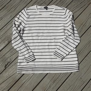 Talbots cashmere black and white sweater